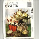 McCalls 2015/705 Carrot, Cabbage, Bunny Sewing Pattern Sewing Pattern