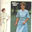 Misses Dress Top Pants Vintage Sewing Pattern Butterick 4699 Size 12