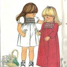 Butterick 3594 Girls 70's Maxi Dress Vintage Sewing Pattern Size 1