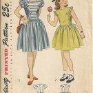 Simplicity 2385 Girls Dress, Sundress 40s Vintage Sewing Pattern Size 8 Chest 26 Uncut