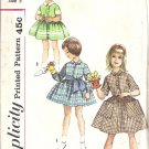 Simplicity 3563 Girls Dress 50s Vintage Sewing Pattern Size 5 Uncut
