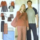 Simplicity 4889 Men, Women Pajamas, Bag Sewing Pattern Size S, M, L