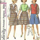 Simplicity 6144 Teen Girl Jumper Skirt Blouse 60s Sewing Pattern Size 12