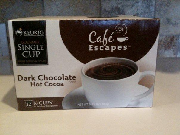 KEURIG Cafe Escapes Dark Chocolate Hot Cocoa 12 K-CUPS