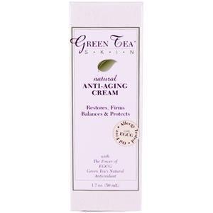 Green Tea Skin Care, Natural Anti-Aging Green Tea EGCG Cream, 1.7 oz (50 ml)