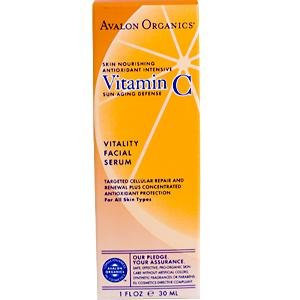 Avalon Organics, Vitamin C Vitality Facial Serum, 1 fl oz (30 ml)