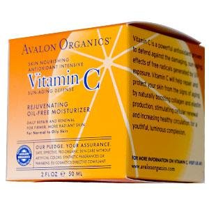 Avalon Organics, Vitamin C Rejuvenating Oil-Free Moisturizer, 2 fl oz (50 ml)