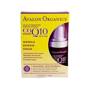 Avalon Organics, CoQ10 Enzyme Wrinkle Defense Serum, .55 fl oz (16 ml)