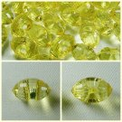 Lot 72 pcs 24L Clear Crystal Rhinestone Yellow Marquise Buttons  6 dozen