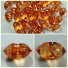 Lot 72 pcs 24L Clear Crystal Rhinestone Orange Marquise Buttons 6 dozen