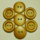Lot 24 pcs 40L Handmade Wood Round Brown Buttons Premium Quality