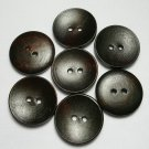 Lot 24 pcs 40L Handmade Wood Round Dark-Brown 2 Hole Buttons Premium Quality