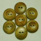Lot 24 pcs 32L Handmade Wood Round Brown 2 Hole Buttons Premium Quality