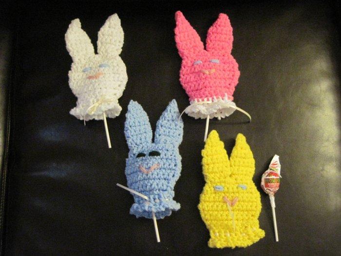 Crochet Bunny Sucker Covers