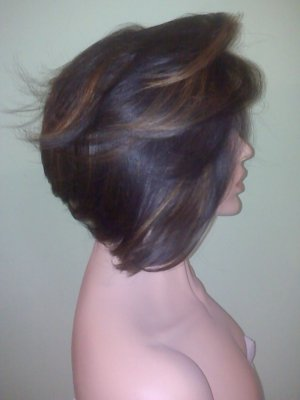 Synthetic Layered Asymmetrical Bob - Full Lace!!!!