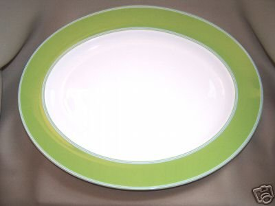 LENOX Cays Stripe Green Oval Serving Platter Kate Spade New