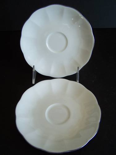 WATERFORD China Marc Jacobs Elizabeth Saucers Set/2 New