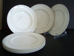 WATERFORD China Marc Jacobs Jean Accent Plates S/6 New
