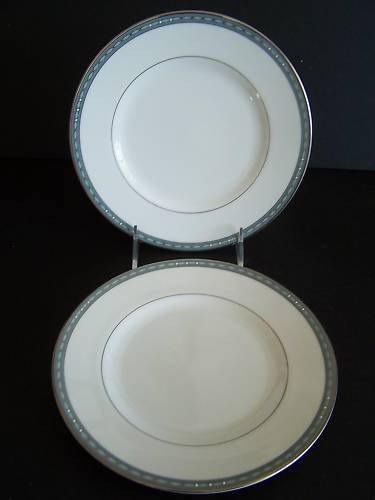 WATERFORD Fine China Pavia Salad Dessert Plate Set/2 New