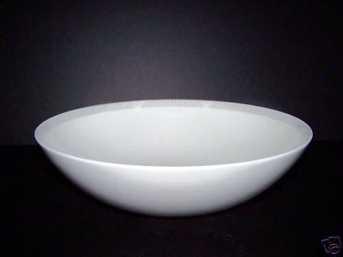 CALVIN KLEIN Herringbone Fine China Serving Bowl New