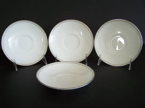 WATERFORD Fine China Ballet Jewel Saucers Set/4 New