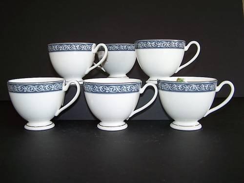 WATERFORD Fine China Westport Tea Cups Set/6 New