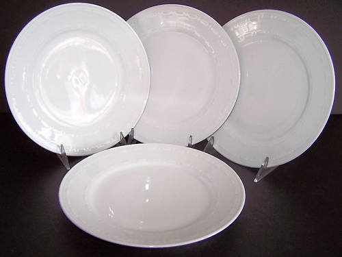 WATERFORD Grafton Street College Green Dinner Set/4 New
