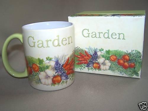 LANG Ceramic Mug Kitchen Herbs by Sherri Baldwin NIB
