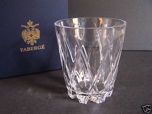 FABERGE Crystal Atelier Collection Hand Crafted Vase NIB