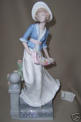 NADAL Fine Porcelain Lady on Stairs Figurine Spain New