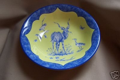 Lynn Chase Large Bowl African Inspirations Blue Green Design New
