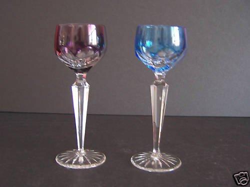 FABERGE Crystal Lausanne Cordial Liqueur Purple Blue New