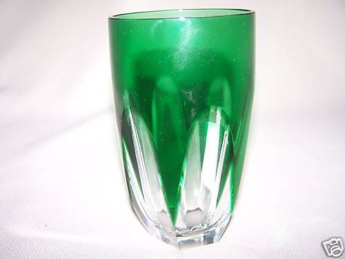 FABERGE Crystal Lausanne Highball Tumbler Green New