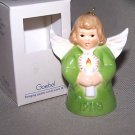 GOEBEL Annual Angel Bell 1988 Christmas Ornament Green MIB