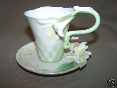FRANZ Garden Blessing Wedding Design Cup Saucer Set New