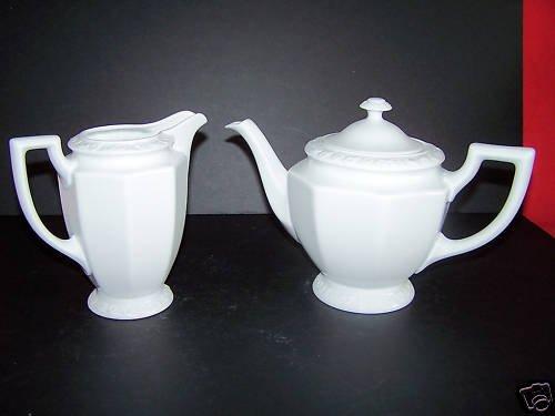 ROSENTHAL Maria White Lidded Tea Pot Creamer Set  New