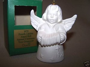 GOEBEL Annual Angel Bell 1979 Christmas Ornament White