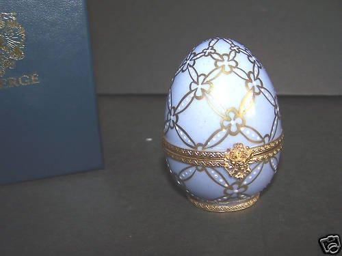 FABERGE Swan Porcelain Egg Shell Limoges Limited NIB