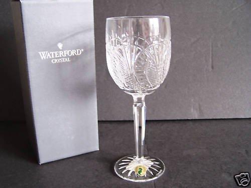 WATERFORD Clear Crystal Sea Horse Goblet Ireland NIB