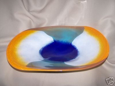 Art Glass Decorative Platter Glass Nuvo Lithuania New