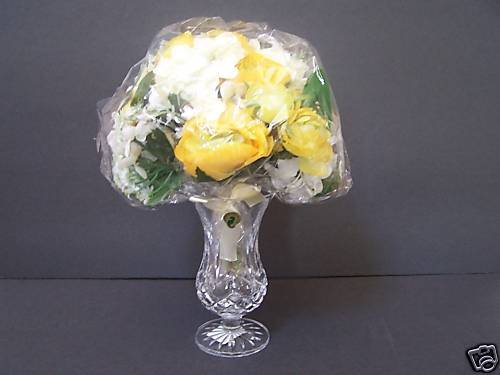 WATERFORD Crystal Vase w/Bouquet Gift For Mom 2008 NIB