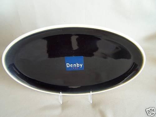 DENBY Stoneware Oyster Oval Serving Platter England New