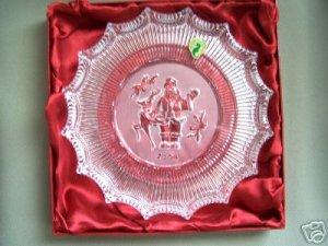 WATERFORD Christmas Crystal Plate St Nicholas 2006 NIB