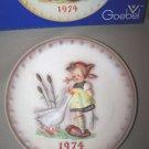 Hummel Goebel Goose Girl Annual Plate 1974 MIB