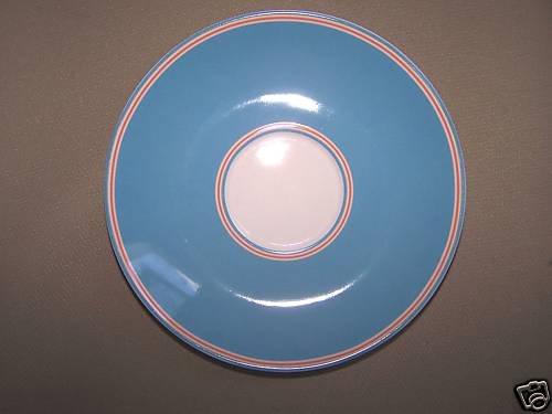LENOX Cays Stripe Blue Saucer Kate Spade Design New