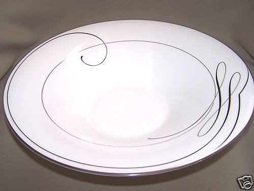 "WATERFORD Ballet Ribbon Bowl 12"" White Fine China New"