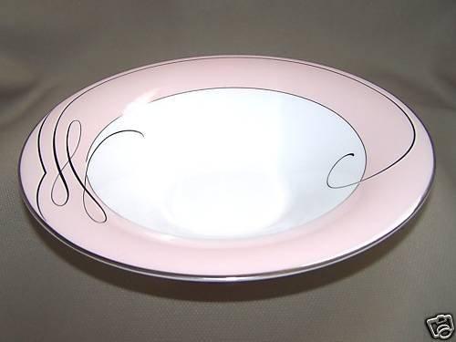 "WATERFORD Ballet Ribbon Bowl 9.5"" Pink Fine China New"