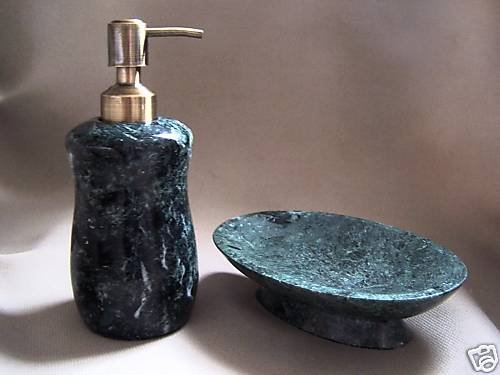 LABRAZEL Verde Alpi Lotion Pump Soap Dish Marble New