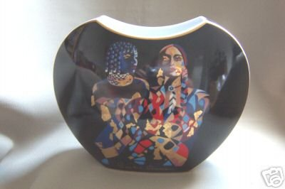 GOEBEL Artis Orbis Collection Porcelain Vase by Claudia Schwarz Black New