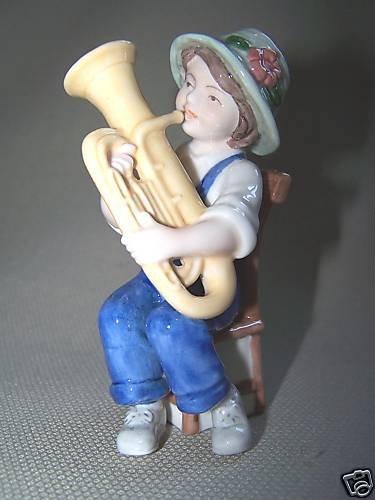 Bing & Grondahl Marie Playing Tuba Figurine 2007 NIB